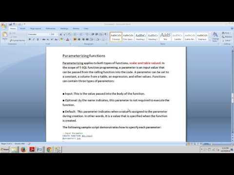SQL Server tutorial 58: Parameterizing Functions