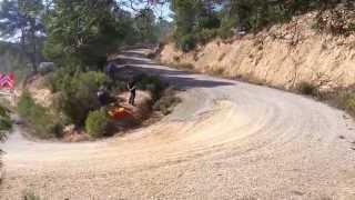 WRC Rally Catalunya 2013 - Dani Sordo crash