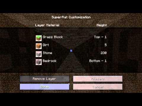 Minecraft World Options: Superflat