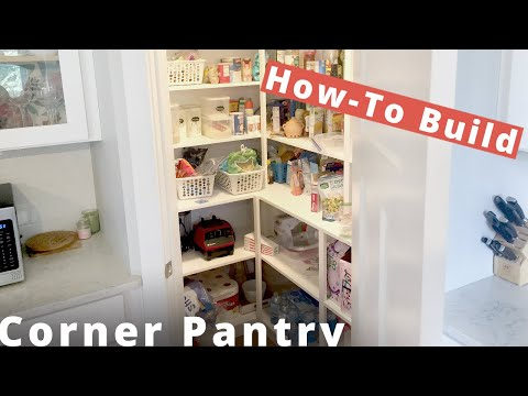 How To Build A Walk-in Corner Pantry DIY Project | Woodworking