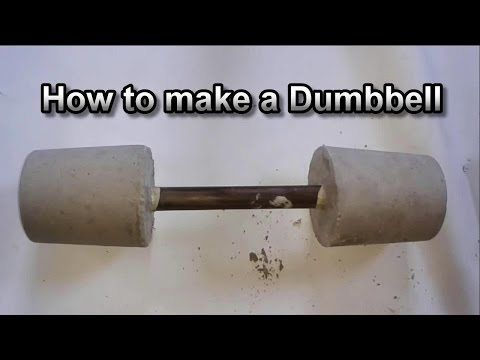 How to make your own Dumbbells at Home / a DIY Concrete Dumbbell - Barbell / Cheap and Easy Weights