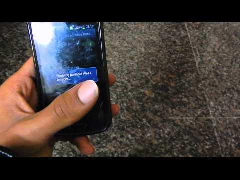 Samsung Galaxy S Duos as WiFi Hotspot