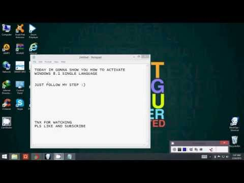 how to activate windows 8.1 single language 32 bit 100% working!