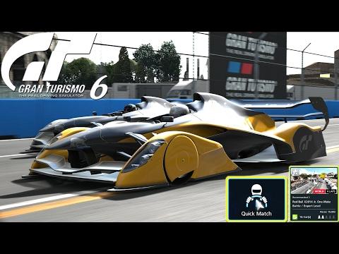 Gran Turismo 6 Quick Match Red Bull X2014 Junior One-Make Battle / Expert Level Circuito di Roma