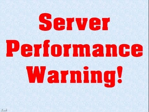 Using an excessive amount of MySQL resources - Server Performance Warning