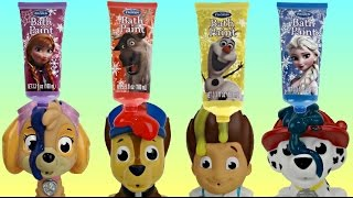 Learn COLORS with Disney Frozen Bath Paint Paw Patrol FULL Set Bathtime Toys, Orbeez, Bubbles / TUYC
