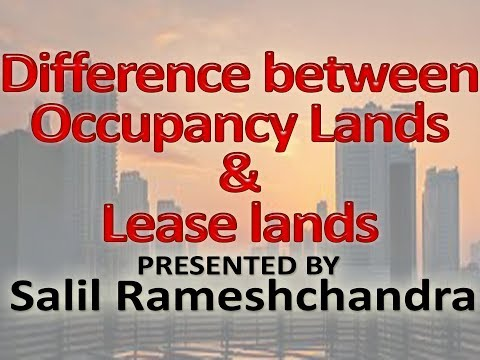 Difference between Occupancy Lands and Lease lands of Maharashtra