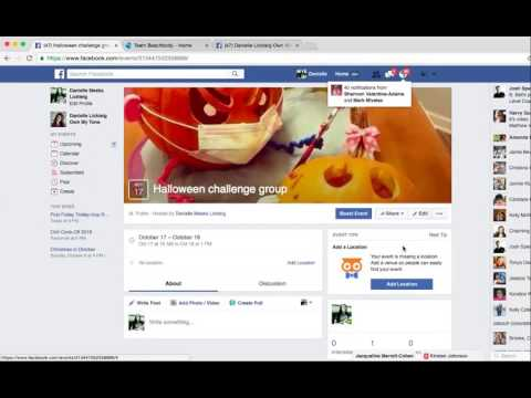 How to create an event page for a challenge group