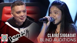 Claire Siggaoat - Rise up   Blind Audition   The Voice Teens Philippines 2020