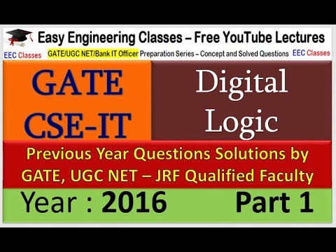 Digital Logic GATE 2016 Solved Question Part 1 on XOR and 16 bit 2's Complement