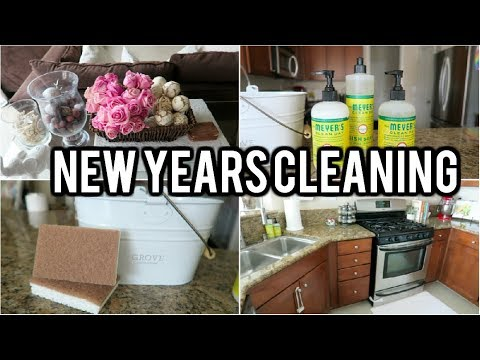 NEW YEARS CLEANING ROUTINE! 2018