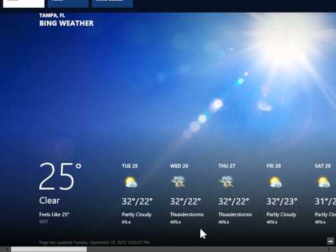 Windows 8.0 Professional - Change Temperature Units in Weather App