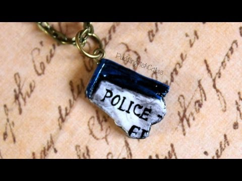 DIY: Piece of the TARDIS Polymer Clay Charm {Stop Motion Tutorial} Doctor Who Necklace