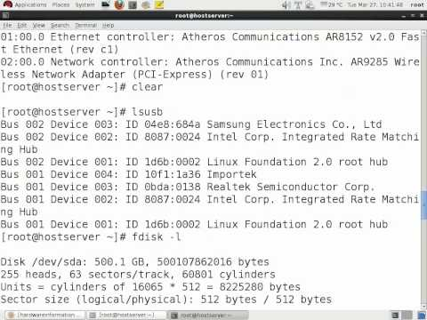 Linux Extras: Commands to know about the hardware details