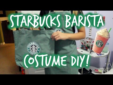 Easy And Quick Starbucks Barista Costume For Halloween!