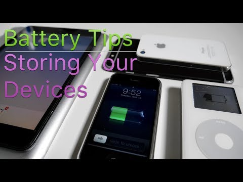 Apple Battery Tips - Storing an iPhone, iPad, iPod or MacBook