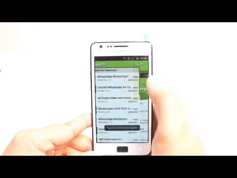 WhatsApp Messenger install to Samsung Galaxy S2