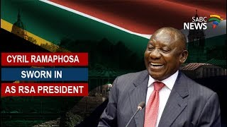 Cyril Ramaphosa sworn in as RSA president