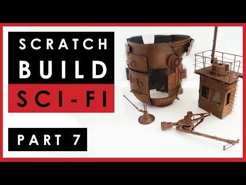 Scratch building 1/35 scale sci-fi model ship - Part 7