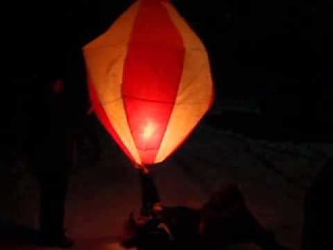 Hot Air Balloon Brazil Style with a Lantern
