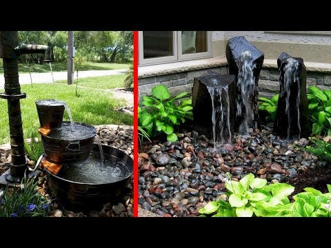 Creative DIY Water Garden and Backyard Ideas   Fountain Waterfalls Small Lake