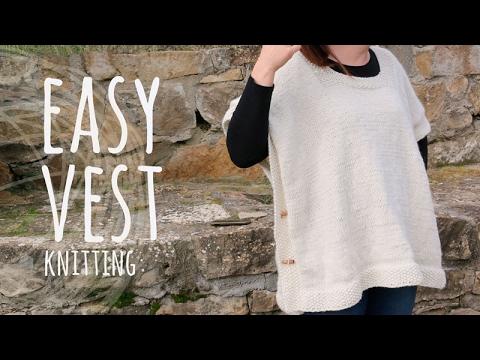 Tutoral Easy Knittnig Vest