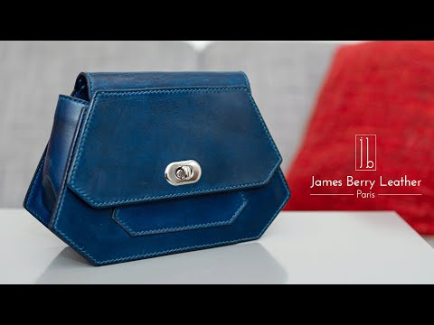 DIY veg tan leather clutch bag / purse