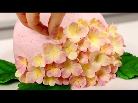 AMAZING Hydrangea CAKE! 🌸