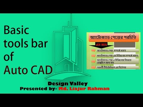 Basic tools bar of Auto CAD