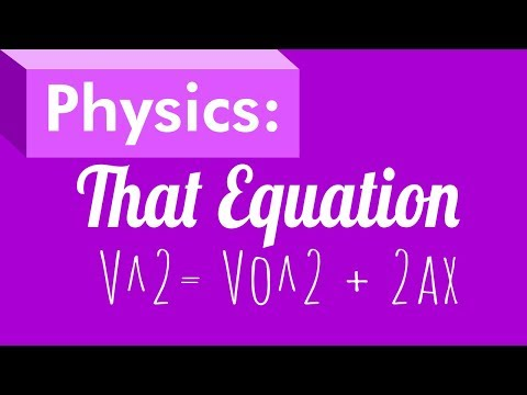 Physics: That Equation, finding final velocity without time