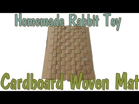 Homemade Rabbit Toy: Cardboard Woven Mat