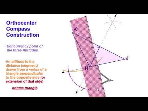 5.4  Orthocenter Compass Construction / obtuse triangle