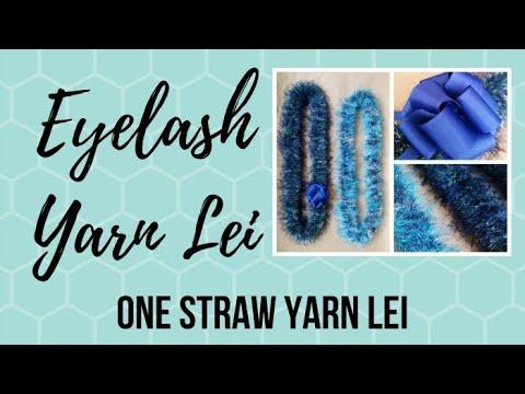 Eyelash Yarn Lei