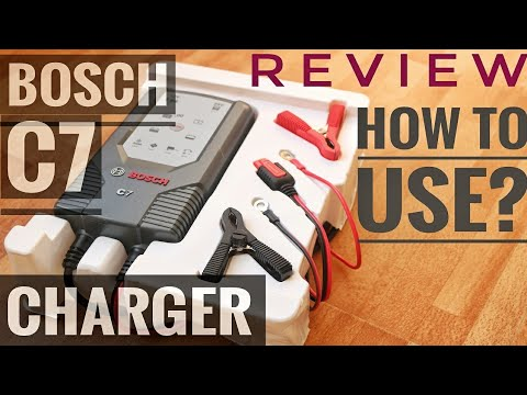 BOSCH C7 CHARGER REVIEW   HOW TO USE THE BOSCH C7 BATTERY CHARGER   BATTERY CHARGING TVS APACHE