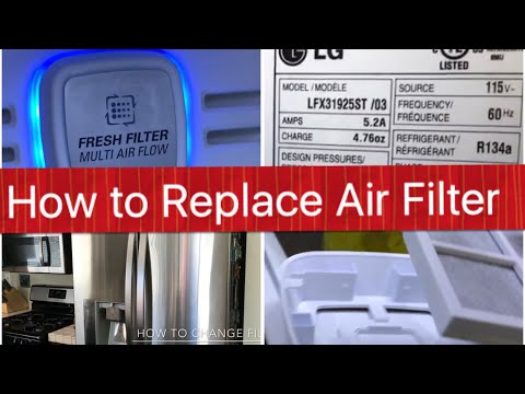 How to change AIR filter LG Refrigerator Fridge