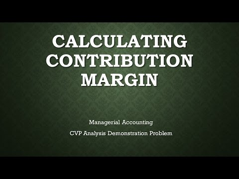 Managerial Accounting CVP Analysis Calculating  Demonstration Problem