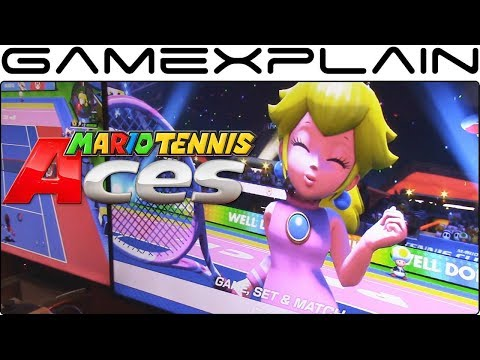 Mario Tennis Aces Gameplay - Peach vs Bowser (Nintendo Switch - London Comic Con)