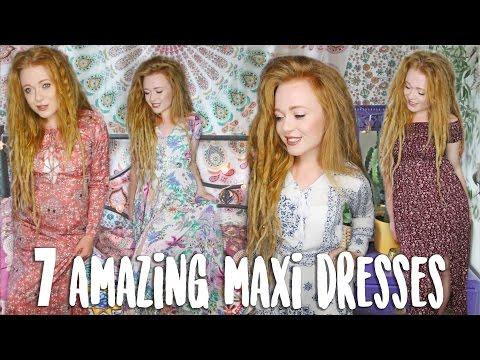 7 Amazing Bohemian Maxi Dresses
