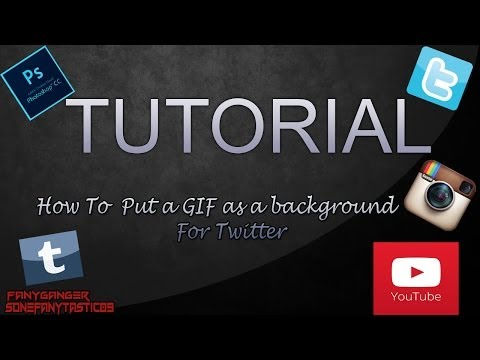 How to put GIF as a background for Twitter
