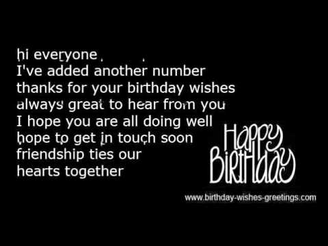Thank you birthday message reply response