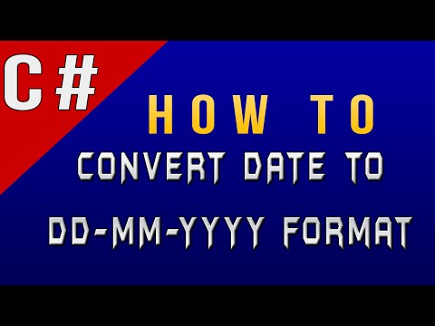How to Convert Date to DD/MM/YYYY Format in C#/CSharp