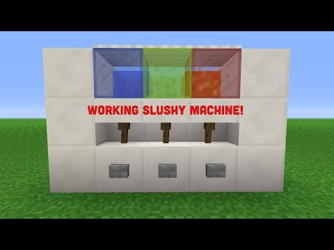 Minecraft: How to make slushy machine in minecraft! (Working)