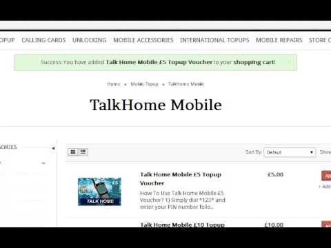 Learn How to Buy £5 TalkHome Mobile Top Up Voucher Online