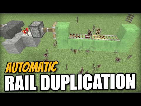 Minecraft PS4 -AUTOMATIC RAIL DUPLICATION GLITCH - Tutorial - Xbox / PS3 / Wii U
