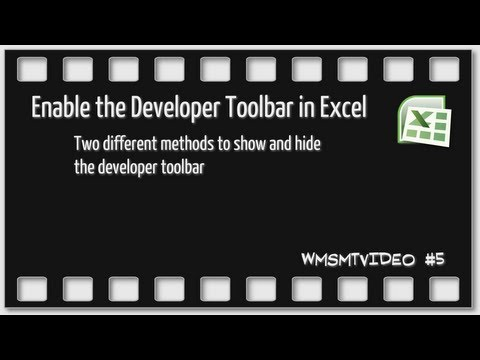 Episode 5 - How to enable or disable the Developer Tab in Excel