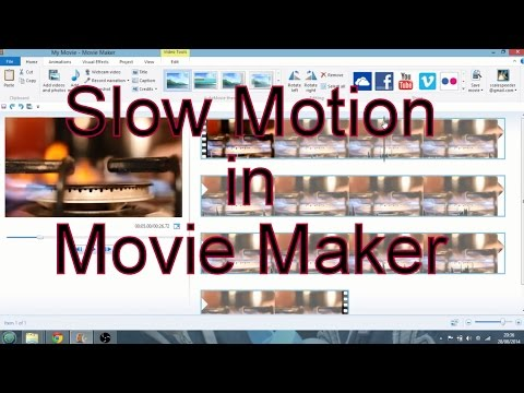 How To Create Slow Motion Video  In Windows Movie Maker 2012