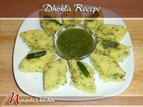 Dhokla (Suji - Semolina) Recipe by Manjula