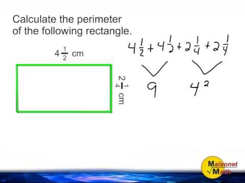 Perimeter Of A Rectangle   Length And Width Are Mixed Numbers SD