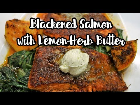 Blackened Salmon Recipe with Lemon Herb Butter | LIVE COOKING | Chef Lorious