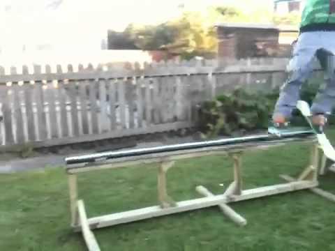 Homemade ski rail